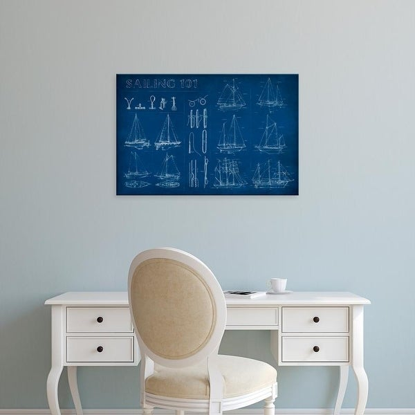 Easy Art Prints Ethan Harper's 'Sailing Infograph' Premium Canvas Art
