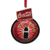 Ice Cold Coca Cola Sign Board Christmas Ornament