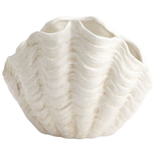 "Cyan Design 8704 Michelle My Shell 11"" Tall Ceramic Planter"