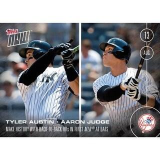NY Yankees, Tyler Austin/ Aaron Judge MLB Topps NOW Card 351 - multi