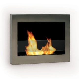Anywhere Fireplaces 90299 SoHo Wall Mount Fireplace - STAINLESS STEEL