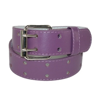 CTM® Kids' Leather Two Hole Jean Belt (Pack of 2)