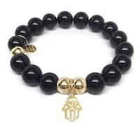 Julieta Jewelry Protection Hand Charm Black Onyx Bracelet