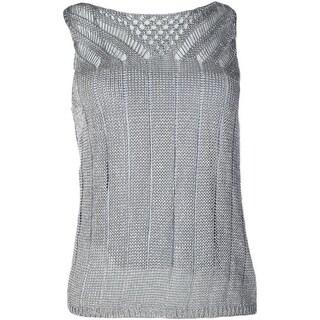 Lauren Ralph Lauren Womens Petites Pullover Top Sleeveless Metallic - pl