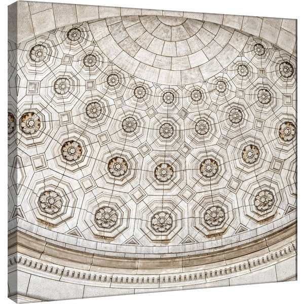 "PTM Images 9-101254 PTM Canvas Collection 12"" x 12"" - ""Union Station Dome Detail"" Giclee Interior Dome Art Print on Canvas"