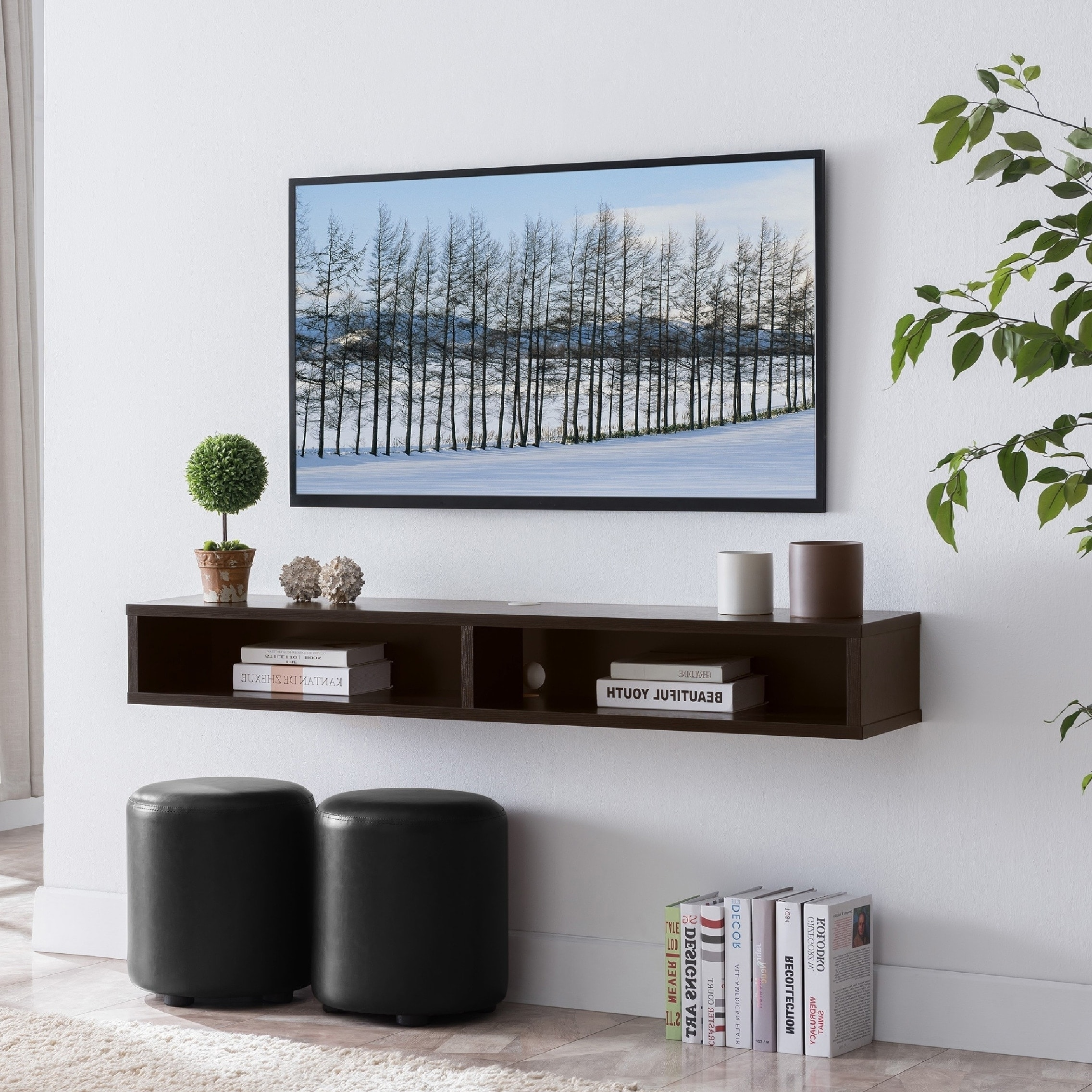 Carson Carrington Rydstorp Floating Wall Mounted Media Console On Sale Overstock 28562260