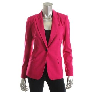 Vince Camuto Womens Notch Collar Fitted Boyfriend Blazer - 10