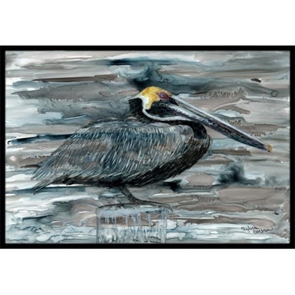 Carolines Treasures 8946MAT Pelican In Grey Indoor & Outdoor Mat 18 x 27 in.