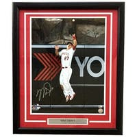 Mike Trout Signed & Framed Los Angeles Angels 16x20 Leaping Catch Photo