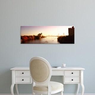 Easy Art Prints Panoramic Image 'Boats, Head of the Charles Regatta, Charles River, Boston, Massachusetts' Canvas Art