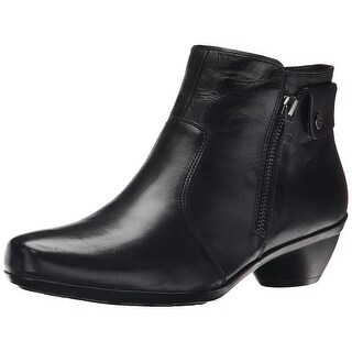 Naturalizer Womens Haley Leather Almond Toe Ankle Fashion Boots