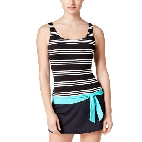 JAG Women's Harbour Stripe Belted Swimdress (M) - Medium