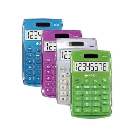 (6 Ea) Handheld Eco Calculator Assorted