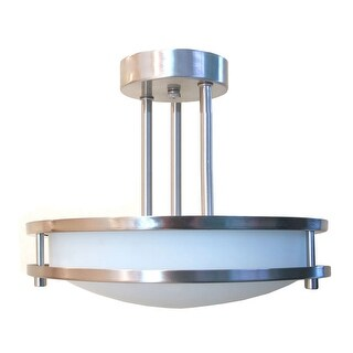 HomeSelects International 6103 Saturn 2 Light Semi- Flush Ceiling Fixture