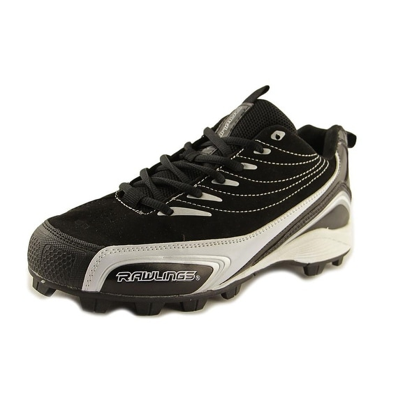 Rawlings Base Invader Low Men Round Toe Suede Black Cleats