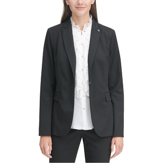 Link to Tommy Hilfiger Womens Pin Dot One Button Blazer Jacket, Black, 16 Similar Items in Suits & Suit Separates