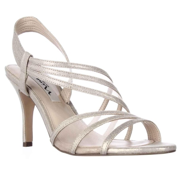 Nina Vitalia Slingback Dress Sandals, Taupe