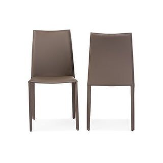 Rockford Taupe Bonded Leather Upholstered Dining Chair - 2 Chairs