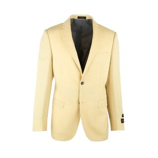 Sangria Yellow Pure Crepe Wool Jacket by Tiglio Luxe