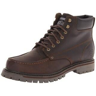 Skechers Men's Bruiser Chukka Utility Work Boot,Dark Brown,10.5 M Us