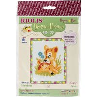 """Baby Deer Counted Cross Stitch Kit-6""""X6"""" 10 Count"""