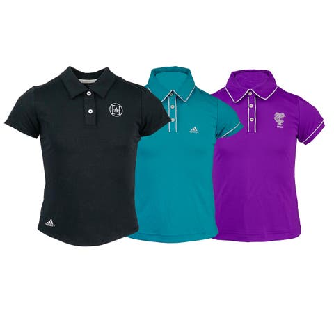 3-Pack adidas Girl's Logo Overrun Polo Shirt Assorted Colors