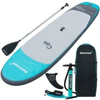 Driftsun 11ft Yoga SUP Inflatable Stand Up Paddle Board  Package with Travel Backpack, Adjustable Paddle, Coil Leash