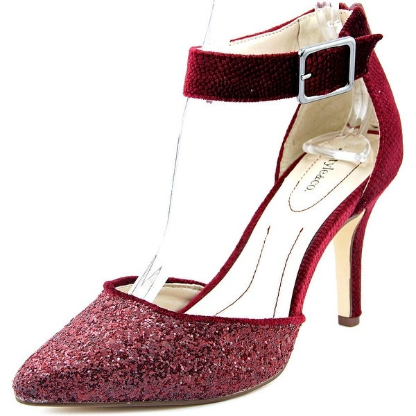 Style & Co Galaxy Women Open Toe Canvas Red Sandals