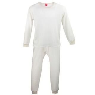 tru fit Men's Thermal Long Underwear Top Bottom Set
