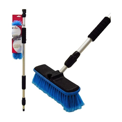 Detailer's Choice 4B369 Flow-Thru Vehicle Wash Brush With Telescoping Handle