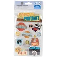 """Paper House 3D Stickers 4.5""""x8.5""""-Family Portrait"""