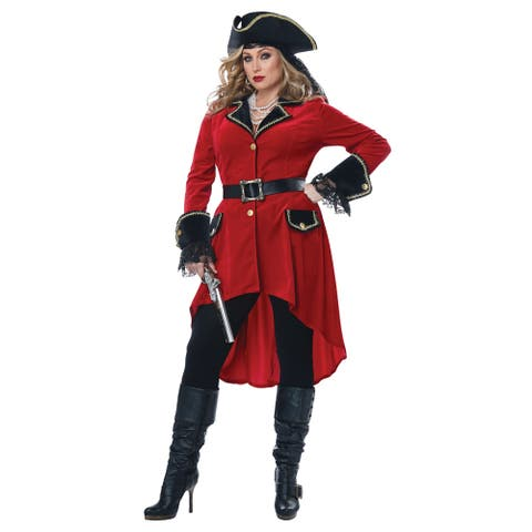 Womens Plus Size High Seas Heroine Pirate Costume