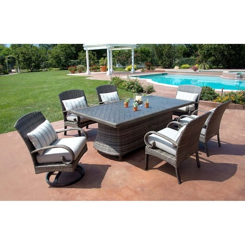 Barcalounger Outdoor Living Captiva Isle 7pc Dining Set with Swivel Chairs and Dining Table