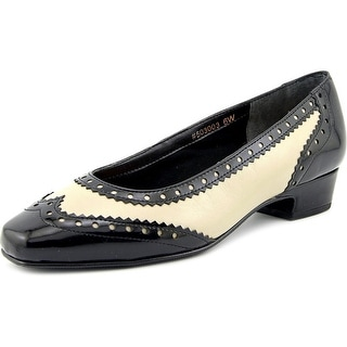 Ros Hommerson Bradley W Square Toe Patent Leather Heels