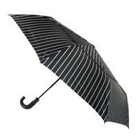 ShedRain Auto Open & Close Vented Striped Print Compact Stick Umbrella - One size