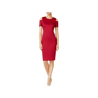 Calvin Klein Womens Party Dress Cocktail Cold Shoulder