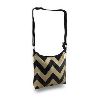 Chevron Stripe Print Cross Body Purse w/Adjustable Strap