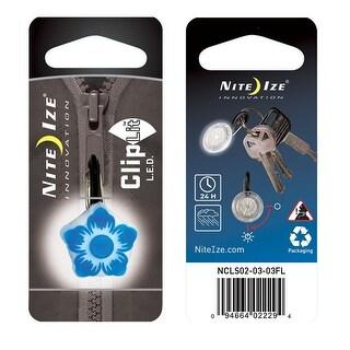 Nite ize cliplit blu flower/wht led ncls02-03-03fl