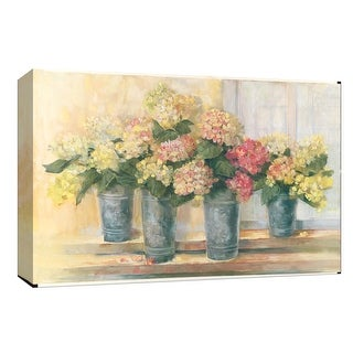 "PTM Images 9-153610  PTM Canvas Collection 8"" x 10"" - ""Hydrangea Bouquets"" Giclee Flowers Art Print on Canvas"