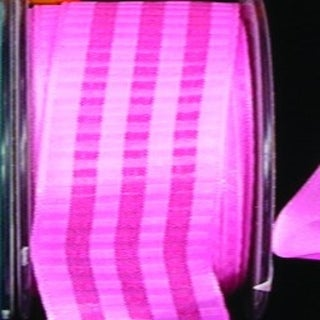 "Pink and Red Blocks Taffeta Wired Craft Ribbon .875"" x 54 Yards"