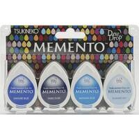 Memento Dew Drop Dye Ink Pads 4/Pkg-Ocean