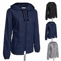 Women's Lightweight Rain Jacket Outdoor Packable Waterproof Hooded Raincoat