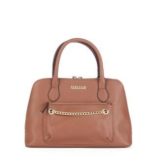 Kenneth Cole Reaction Womens Dynamo Faux Leather Chain Satchel Handbag - Medium