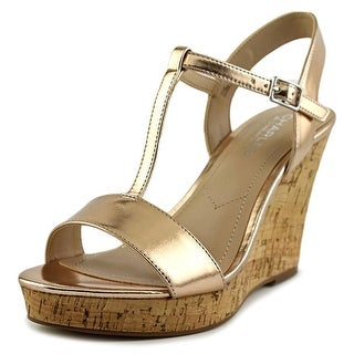 Charles By Charles David Libra RoseGold Metallic Women Gold Wedge Sandal