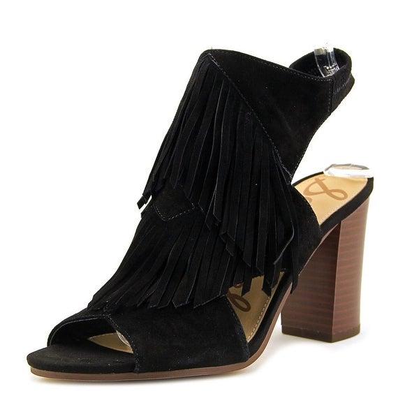 de68138de09c Shop Sam Edelman Elaine Women Open Toe Suede Black Sandals - Free ...
