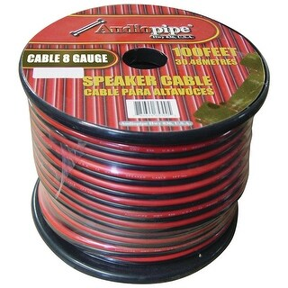 Audiopipe 8 Gauge Speaker Wire 100' Red/Black