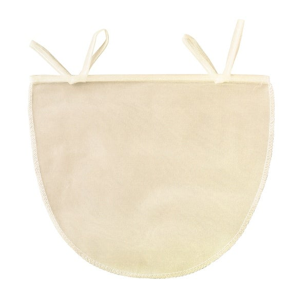 "Beyond Gourmet Unbleached Reusable 11"" x 9"" Nut Milk Bag - Almond Pulp Jelly Cheese Strainer - Tan"