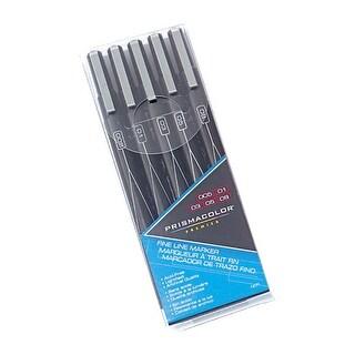 Prismacolor Premier Illustration Markers, Fine Tip, Black, Set of 5