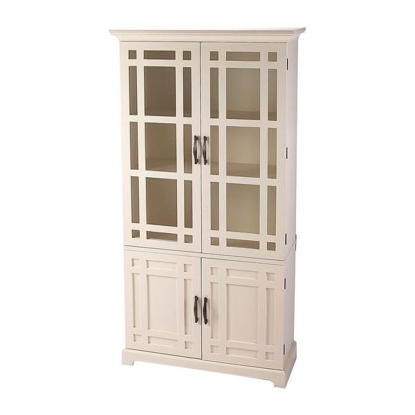 Shop Transitional Rectangular Tall Wooden Storage Cabinet