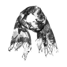 Women's Fashion Floral Soft Wraps Scarves - F2 Gray